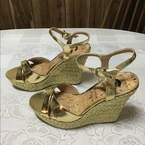 Guess wedges Gold size 7